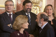 (L-R) Public Works Minister, Jose Blanco, Economy Minister, Elena Salgado, Justice Minister, Francisco Caamano, Interior Minister, Alfredo Perez Rubalcaba and Foreign Affairs Minister, Trinidad Jimenez attend the 32nd anniversary of the Spanish Constitution at Congress of Deputies on December 6, 2010 in Madrid, Spain.  Spain's Constitution was enacted in 1978 as part of it's transition to democracy.