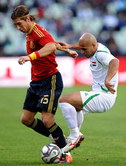 Basem Abbas Spain v Iraq - FIFA Confederations Cup