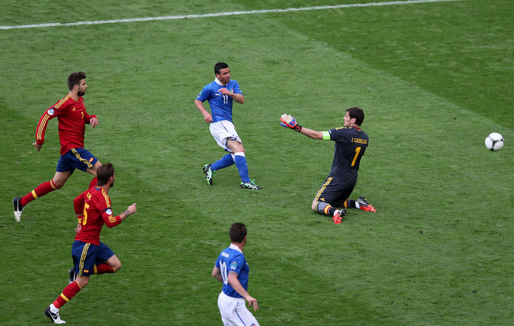 Iker casillas in spain v italy group c uefa euro 2012 2 for Euro 2012 groupe
