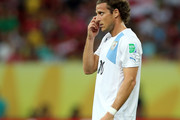 Diego Forlan of Uruguay looks on during the FIFA Confederations Cup Brazil 2013 Group B match between Spain and Uruguay at the Arena Pernambuco on June 16, 2013 in Recife, Brazil.