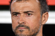 Luis Enrique, Manager of Spain looks on prior to the UEFA Nations League A Group Four match between Spain and England at Estadio Benito Villamarin on October 15, 2018 in Seville, Spain.