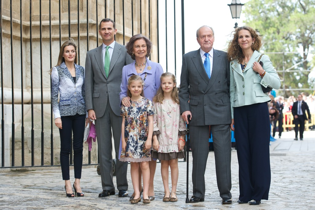 Princess Leonor in Spanish Royals Attend Easter Mass in ...