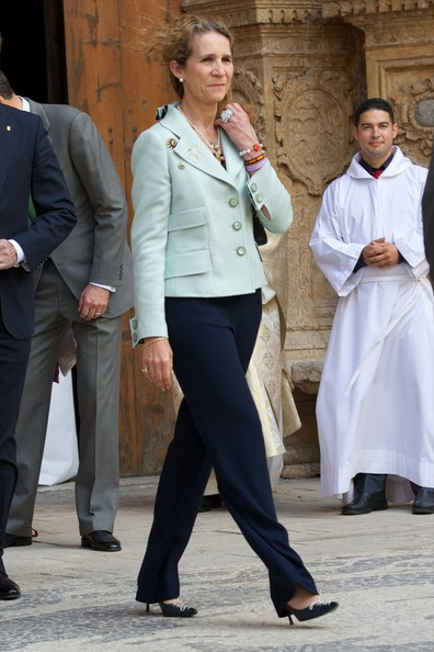 Princess Elena of Spain attends the Easter Mass at the Cathedral of Palma de Mallorca on April 20, 2014 in Palma de Mallorca, Spain.