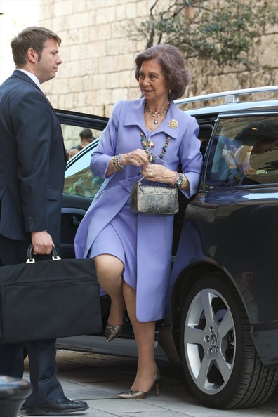 Queen Sofia of Spain attends the Easter Mass at the Cathedral of Palma de Mallorca on April 20, 2014 in Palma de Mallorca, Spain.