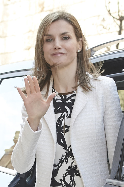 Queen Letizia of Spain attends the Easter Mass at the Cathedral of Palma de Mallorca on April 5, 2015 in Palma de Mallorca, Spain.
