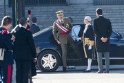 (L-R) King Felipe VI of Spain and Pedro Sanchez attend New Year Military Parade 2019 celebration at Royal Palace on January 06, 2019 in Madrid, Spain.