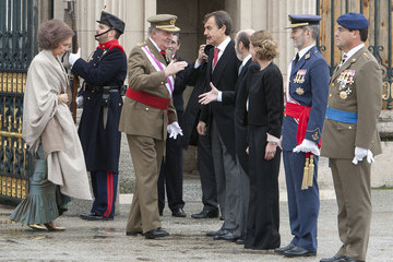 Carme Chacon Spanish Royals Celebrate New Year's Military Parade 2011
