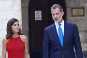King Felipe VI of Spain and Queen Letizia of Spain host a dinner for authorities at the Almudaina Palace on August 07, 2019 in Palma de Mallorca, Spain.