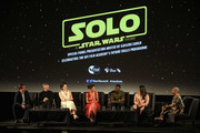 (L-R) Producer Simon Emanuel, Director of the BFI Film Fund, Ben Roberts, Phoebe Waller-Bridge, Thandie Newton, Nathan Lloyd, Maria Moss and BFI Southbank?s Head of Cinemas and Events, Gaylene Gould attend special BFI screening of 'Solo: A Star Wars Story' to celebrate the film's BFI Film Academy trainees at BFI Southbank on May 23, 2018 in London, England.