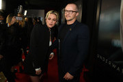 """(L-R) Kristen Stewart and William Eubank attend a special fan screening of 20th Century Fox's """"Underwater"""" at Alamo Drafthouse Cinema on January 07, 2020 in Los Angeles, California."""