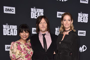 "Karen David, Norman Reedus and Jenna Elfman attend the Season 10 Special Screening of AMC's ""The Walking Dead"" at Chinese 6 Theater– Hollywood on September 23, 2019 in Hollywood, California."