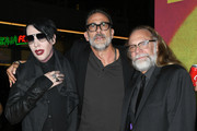 """Marilyn Manson, Jeffrey Dean Morgan and Greg Nicotero attend the Special Screening Of AMC's """"The Walking Dead"""" Season 10 at Chinese 6 Theater– Hollywood on September 23, 2019 in Hollywood, California."""