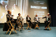 "(L-R) 'Meet the Press' Moderator Chuck Todd, Director Joe Wright, Actor Gary Oldman, House Majority Leader Kevin McCarthy (R-CA), and Rep. Joe Crowley (D-NY) participate in a panel discussion at a DC special screening of ""Darkest Hour"" with Gary Oldman and Director Joe Wright at the U.S. Navy Memorial November 2, 2017 in Washington, DC."