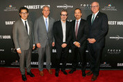 "(L-R) Director Joe Wright, House Majority Leader Kevin McCarthy (R-CA), actor Gary Oldman, 'Meet the Press' Moderator Chuck Todd, and Rep. Joe Crowley (D-NY) attend a DC special screening of ""Darkest Hour"" with Gary Oldman and Director Joe Wright at the U.S. Navy Memorial on November 2, 2017 in Washington, DC."