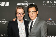 "Actor Gary Oldman (L) and director Joe Wright attend a DC special screening of ""Darkest Hour"" with Gary Oldman and Director Joe Wright at the U.S. Navy Memorial on November 2, 2017 in Washington, DC."
