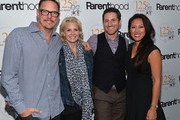 Actors Matthew Lillard, Monica Potter, Sam Jaeger and Five Acres CEO Chanel Boutakidis attend a special screening of NBC's 'Parenthood' benefitting Five Acres on September 26, 2013 in San Marino, California.