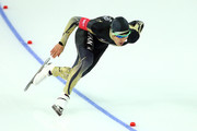 Keiichiro Nagashima of Japan competes during the Men's 500 m Race 1 of 2 Speed Skating event during day 3 of the Sochi 2014 Winter Olympics at Adler Arena Skating Center on February 10, 2014 in Sochi, Russia.