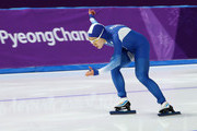 Sang-Hwa Lee of Korea competes during the Ladies' 500m Individual Speed Skating Final on day nine of the PyeongChang 2018 Winter Olympic Games at Gangneung Oval on February 18, 2018 in Gangneung, South Korea.