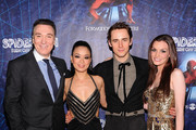 """(L-R)Patrick Page,T.V. Carpio,Reeve Carney and Jennifer Damiano attend """"Spider-Man Turn Off The Dark"""" Broadway opening night at Foxwoods Theatre on June 14, 2011 in New York City."""