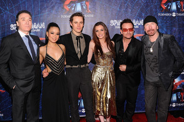 """Patrick Page Reeve Carney """"Spider-Man Turn Off The Dark"""" Broadway Opening Night"""