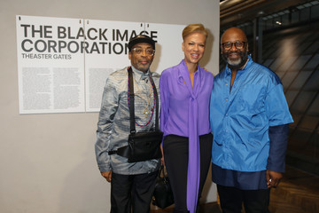 Spike Lee Opening Of Theaster Gates' Exhibition 'The Black Image Corporation' At Fondazione Prada Osservatorio in Milan