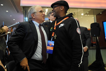 Spike Lee New York Knicks Introduce Phil Jackson