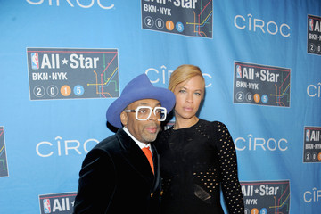 Spike Lee Celebrities Attend The 64th NBA All-Star Game 2015