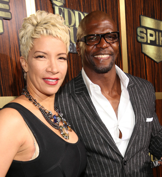 Actor Terry Crews  R  and Rebecca King-Crews arrive at Spike TV s    Crews Rebecca Kids