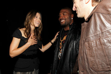 "Jessica Biel Sharlto Copley Spike TV's ""Guys Choice"" - Backstage"