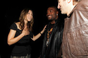 "Actors Jessica Biel, Quinton Jackson and Sharlto Copley backstage at Spike TV's 4th Annual ""Guys Choice Awards"" held at Sony Studios on June 5, 2010 in Los Angeles, California."