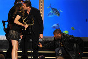 "Actors Jessica Biel, Bradley Cooper, Liam Neeson and Quinton Jackson onstage during Spike TV's 4th Annual ""Guys Choice Awards"" held at Sony Studios on June 5, 2010 in Los Angeles, California. ""Guys Choice"" premieres June 20, 2010 at 10PM ET/PT on Spike."