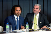 Christian Karembeu, football Legend and UEFA Global Ambassador speaks during the Sport, Youth & Human Rights Conference Hosted by Intenational Center For Sport Security (ICSS) during the EU Week Of Sport on September 8, 2015 in Brussels, Belgium.