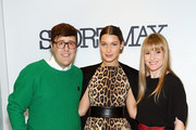 (L-R) Teen Vogue Style Features Director Andrew Bevan, model Bella Hadid and Teen Vogue Editor-In-Chief Amy Astley attends Sportmax and Teen Vogue Celebrate The Fall/Winter 2014 Collection at Sportmax on October 28, 2014 in New York City.