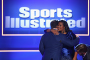 SI Muhammad Ali Legacy Award recipient John Cena hugs Laila Ali onstage at Sports Illustrated 2018 Sportsperson of the Year Awards Show on Tuesday, December 11, 2018 at The Beverly Hilton in Los Angeles. Tune in to NBCSN on Thursday, December 13, 2018 at 9pmET to watch the one hour Sports Illustrated Sportsperson of the Year Awards special.