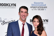 Olympic Swimmer Michael Phelps and Nicole Johnson attend the Sports Illustrated Sportsperson of the Year Ceremony 2016 at Barclays Center of Brooklyn on December 12, 2016 in New York City.