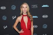 Model Olivia Jordan attends Sports Illustrated Swimsuit 2018 Launch Event at Magic Hour at Moxy Times Square on February 14, 2018 in New York City.