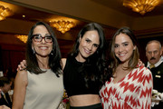 (L-R) Maria Joao, Jordana Brewster and Isabella Brewster attend the Sports Spectacular Luncheon, Benefiting Cedars-Sinai at The Beverly Hilton Hotel on March 25, 2015 in Beverly Hills, California.