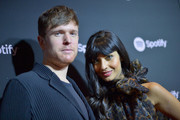 """James Blake (L) and Jameela Jamil attend Spotify """"Best New Artist 2019"""" event at Hammer Museum on February 7, 2019 in Los Angeles, California."""