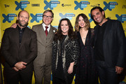 """(L-R) Actor Jason Statham, director Paul Feig, actress Melissa McCarthy, actress Rose Byrne and actor Bobby Cannavale arrive at the premiere of """"Spy"""" during the 2015 SXSW Music, Film + Interactive Festival at the Paramount on March 15, 2015 in Austin, Texas."""
