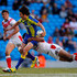 Stefan Ratchford Photos - Stefan Ratchford (C) of Warrington is tackled by Sia Soliola of St Helens during the Super League Magic Weekend match between St Helens and Warrington Wolves at the Etihad Stadium on May 25, 2013 in Manchester, England. - St Helens v Warrington Wolves