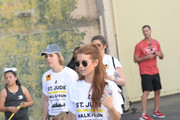 Emerson Swisher and JoAnna Garcia Swisher attend St.Jude Walk/Run Hosted By Lucy Hale at Paramount Studios on September 22, 2018 in Hollywood, California.