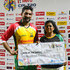 Sohail Tanvir Photos - In this handout image provided by CPL T20, Sohail Tanvir (L) of Guyana Amazon Warriors receives the man of the match prize from Pooja Nayak (R) of St Kitts & Nevis Patriots at the end of match 19 of the Hero Caribbean Premier League between St Kitts & Nevis Patriots and Guyana Amazon Warriors at the Warner Park Sporting Complex on August 25, 2018 in Basseterre, St Kitts, Saint Kitts And Nevis. - St Kitts & Nevis Patriots vs. Guyana Amazon Warriors - 2018 Hero Caribbean Premier League (CPL) Tournament