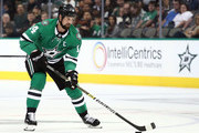Jamie Benn #14 of the Dallas Stars during a preseason game at American Airlines Center on September 18, 2018 in Dallas, Texas.