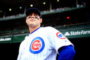 Anthony Rizzo #44 of the Chicago Cubs prior to the game against the St. Louis Cardinals at Wrigley Field on September 30, 2018 in Chicago, Illinois.