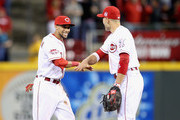 Joey Votto and Billy Hamilton Photos Photo