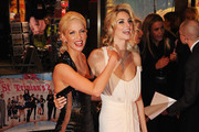 Actresses Sarah Harding (L) and Tamsin Egerton attend the World premiere of 'St Trinian's 2: The Legend of Fritton's Gold' at the Empire Leicester Square on December 9, 2009 in London, England.