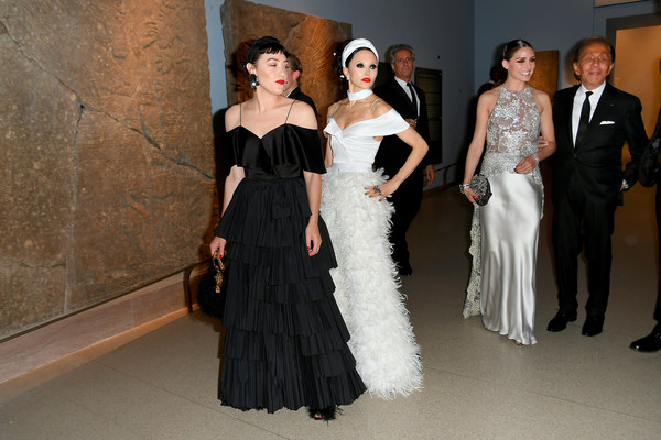 CFDA Fashion Awards - Cocktails [gown,fashion model,dress,clothing,fashion,haute couture,shoulder,bridal party dress,wedding dress,formal wear,cfda fashion awards,cocktails,brooklyn museum of art,new york city,mia moretti,stacey bendet]