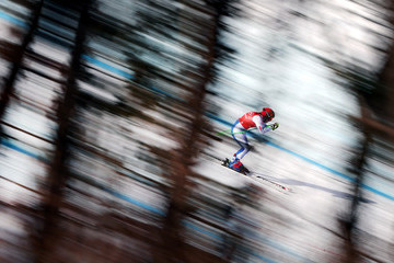 Stacey Cook Alpine Skiing Training - Winter Olympics Day 10