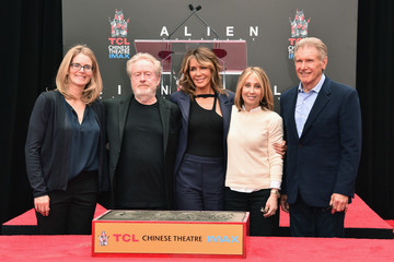 Stacey Snider Sir Ridley Scott Celebrates His Hand and Footprint Ceremony