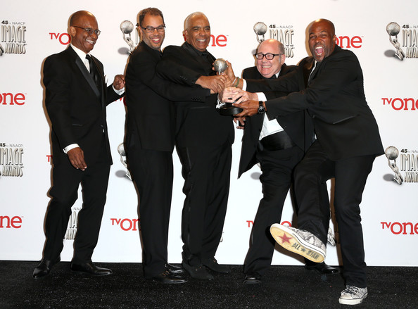 45th NAACP Image Awards Presented By TV One - Press Room [suit,event,premiere,formal wear,tuxedo,flooring,white-collar worker,producers,stan lathan,tim gibbons,real husbands of hollywood ralph farquhar,l-r,room,press room,pasadena civic auditorium,tv one,naacp image awards]
